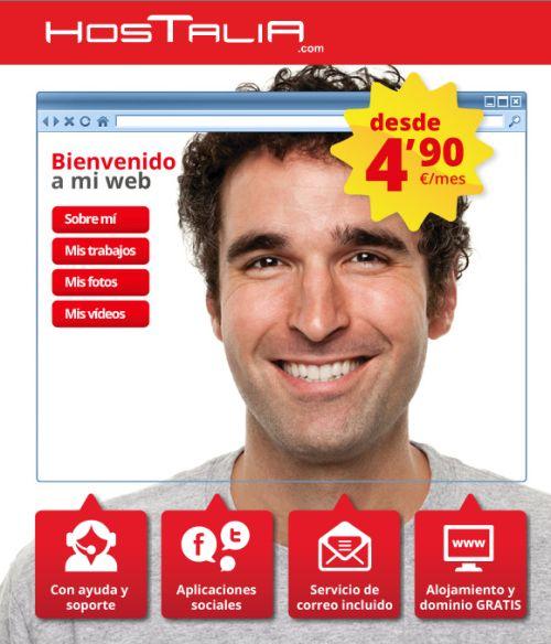 "Crea tu sitio web con ""1, 2, 3… ¡inventa tu web!"" de Hostalia"